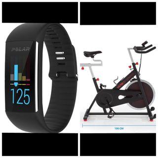 Bicicleta Spinning + reloj polar pulsometro