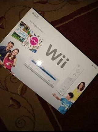 Consola Wii con complementos y 155 juegos