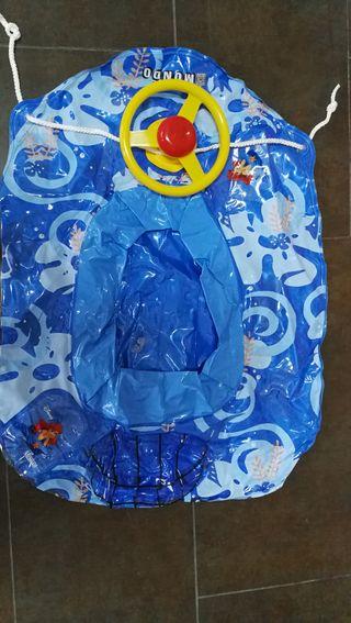 Barca hinchable infantil con volante, Disney