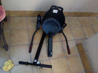 patinete electrico+asiento cargador y su caja etc