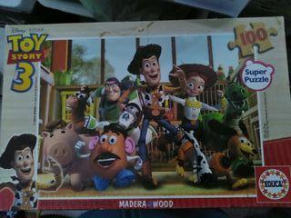 puzzle de madera toy story 100 piezas