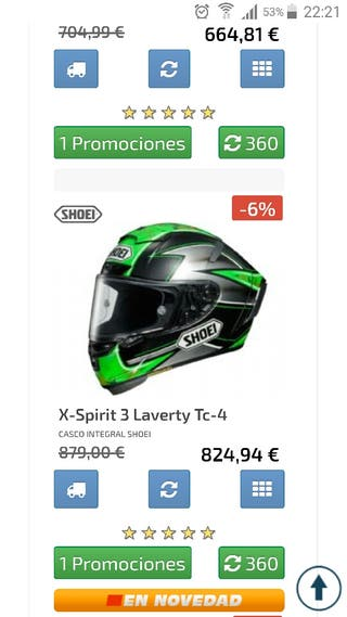 casco shoei x-spirit 3 laverty en perfecto estado.