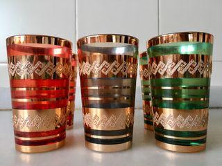 6 vasos de té decorados
