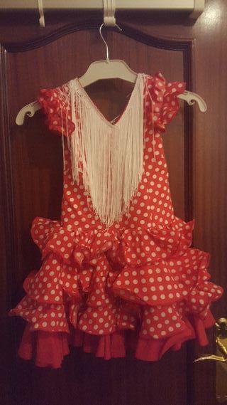 Traje de flamenca niña talla 6