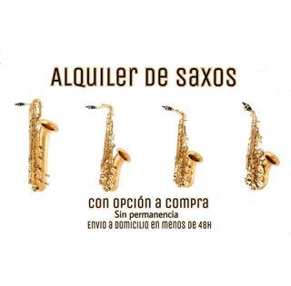 Alquiler de saxos - saxofon alto tenor soprano