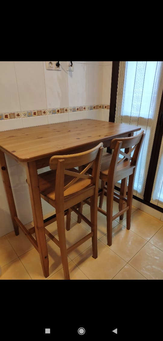 Mesa alta cocina ikea de segunda mano por 100 € en Barganiza en WALLAPOP