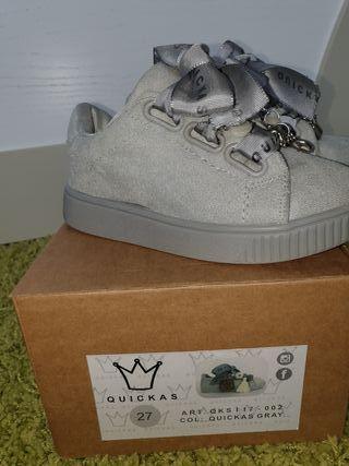 Zapatillas niña Quickas número 27
