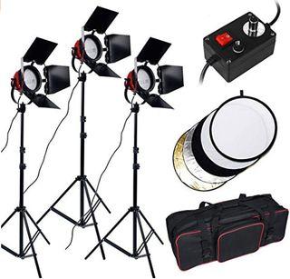 Kit de iluminación halógena 2.400W vídeo, foto, TV