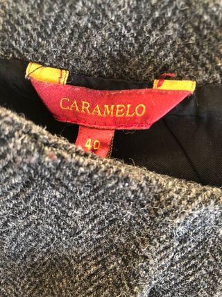 Pichi de lana y viscosa Caramelo T40 con forro.