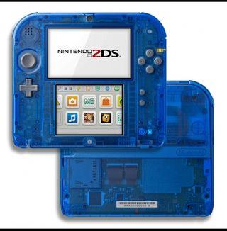 Nintendo 2DS Transparente + juegos
