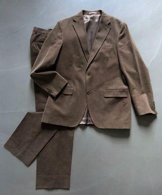 costume Marron Massimo Dutti Veste 52/42 pant.44