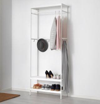 Coat rack with shoe storage unit Ikea