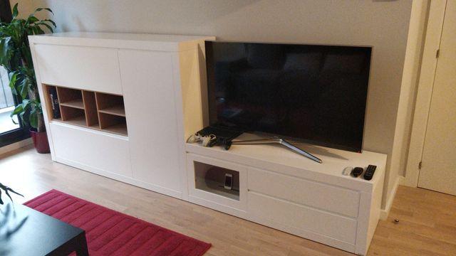 Mueble de salón Kibuc, blanco lacado de segunda mano por 900 € en ...