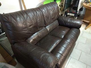 sofá de piel 2 plazas