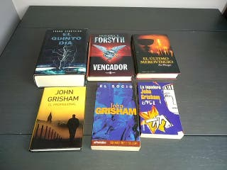 6 libros. Frederick Forsyth,John Grisham