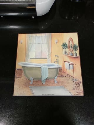 Cuadro decorativo para baño