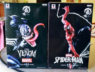 figuras marvel goukai Venon vs spiderman banpresto