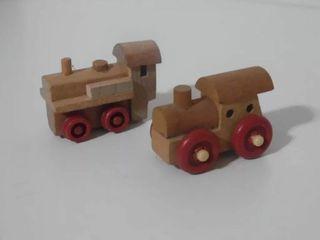 trenes madera kinder sorpresa
