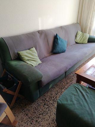 sofá de microfibra