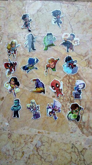 Pegatinas Super Heroes Marvel y DC