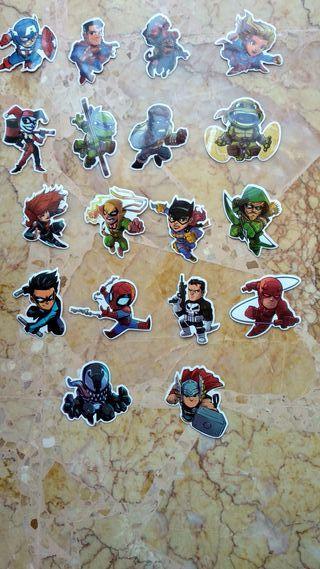 Pegatinas Marvel y Dc