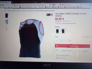 Camiseta Hombre triatlón ZEROD
