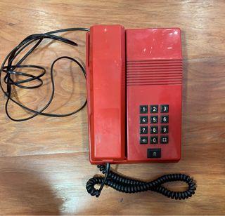 Teléfono de plástico retro vintage interfono
