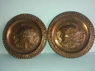 Platos antiguos decoracion de cobre