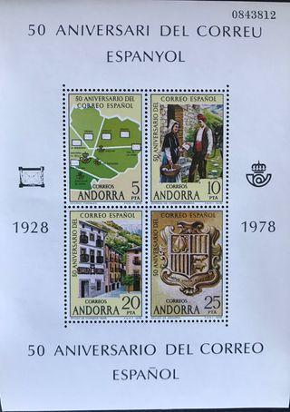 Sellos Andorra Española 1978