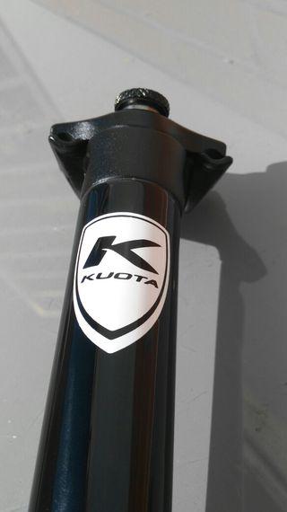 Tija KUOTA CARBÓN 27,2x355mm. Nueva. bici.