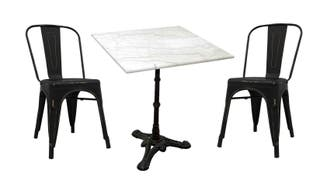 Conjunto Mesa de Mármol Cuadrada y 2 sillas Meyer