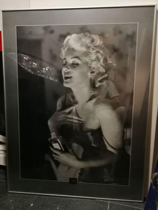 Póster Marilyn Monroe enmarcado 77 x 102,5 cm