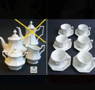 juego café Johnson Brothers porcelana