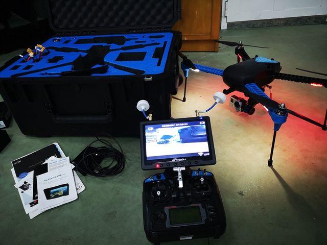 dron iris+ con fpv +go pro
