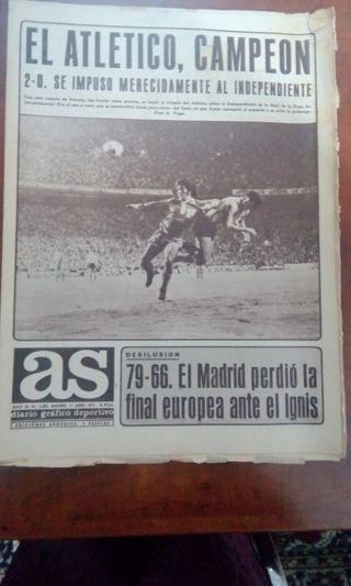 AS 1975 1976 1977 1985 ¡Atlético Madrid Campeón!
