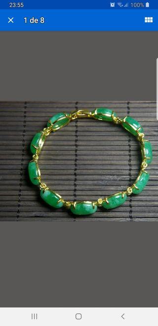 Preciosa pulsera de jade natural