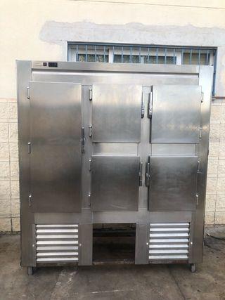 Armario frigorífico vertical nevera inox grande