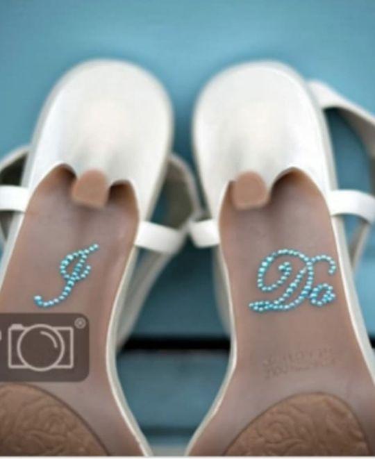 Pegatina Boda zapatos (hago envios)