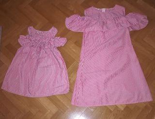 Conjunto de vestidos madre e hija