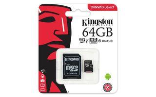 Kingston T.Memoria Micro SD c/adaptador 64GB