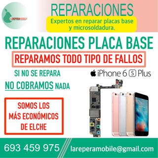 Reparacion iPhone placa base iPhone 6s plus