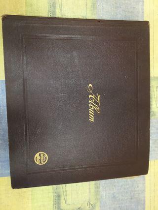 Álbum antiguo y discos de pizarra La voz de su amo