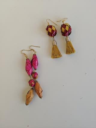 Mexican palm earrings.