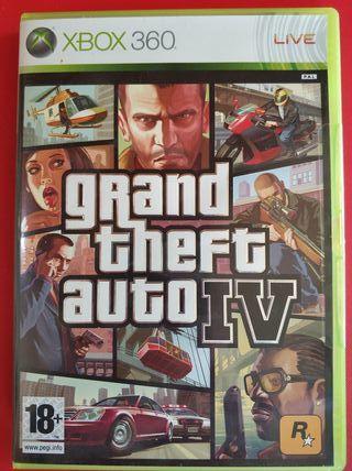 Juego Xbox 360GRAND THEFT AUTO IV seminuevo