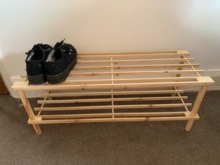 shoe rack 2 shelves