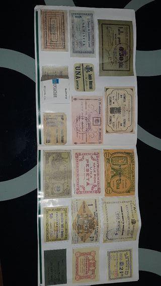 coleccion de billetes de la historia de alicante