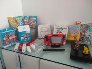 Wii U Nintendo + mandos+ juegos+ guia