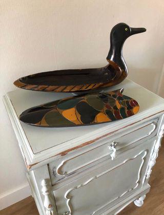 Pato madera lacado caja