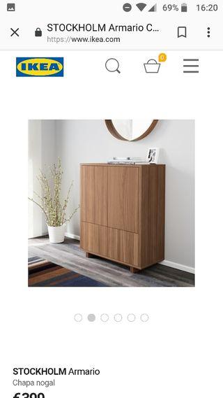 mueble aparador de madera de nogal impecable