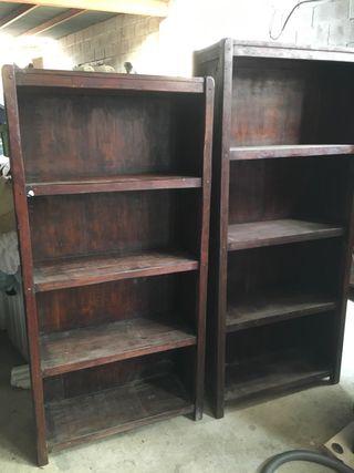 Librería antigua madera maciza